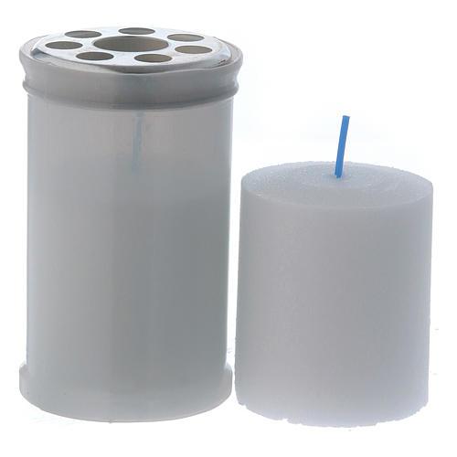 Lumino votivo colore bianco T30 cera bianca 2