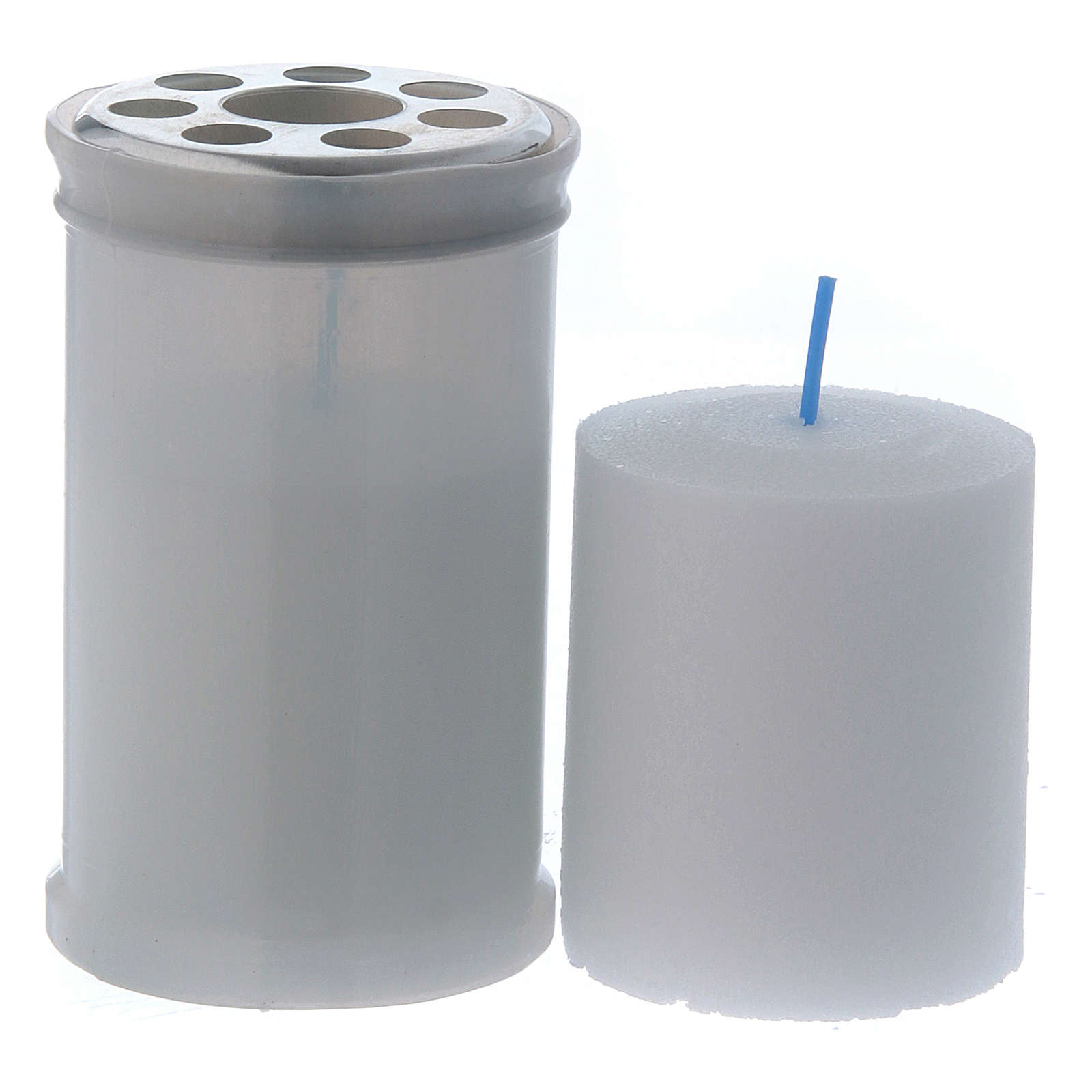 Znicz wotywny biały kolor T30 biały wosk 3