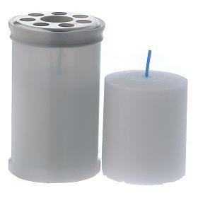 Znicz wotywny biały kolor T30 biały wosk s2
