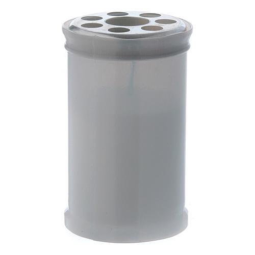 Znicz wotywny biały kolor T30 biały wosk 1
