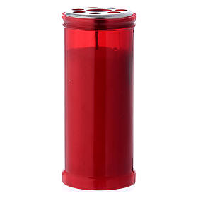 Velas Votivas: Vela votiva vermelha T40 com cera branca