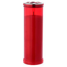 Vela votiva cor vermelha T50 com cera branca s1