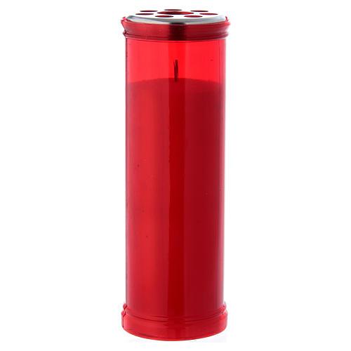 Vela votiva cor vermelha T50 com cera branca 1