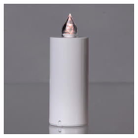 Lumada electric candle with white flickering light, disposable s2