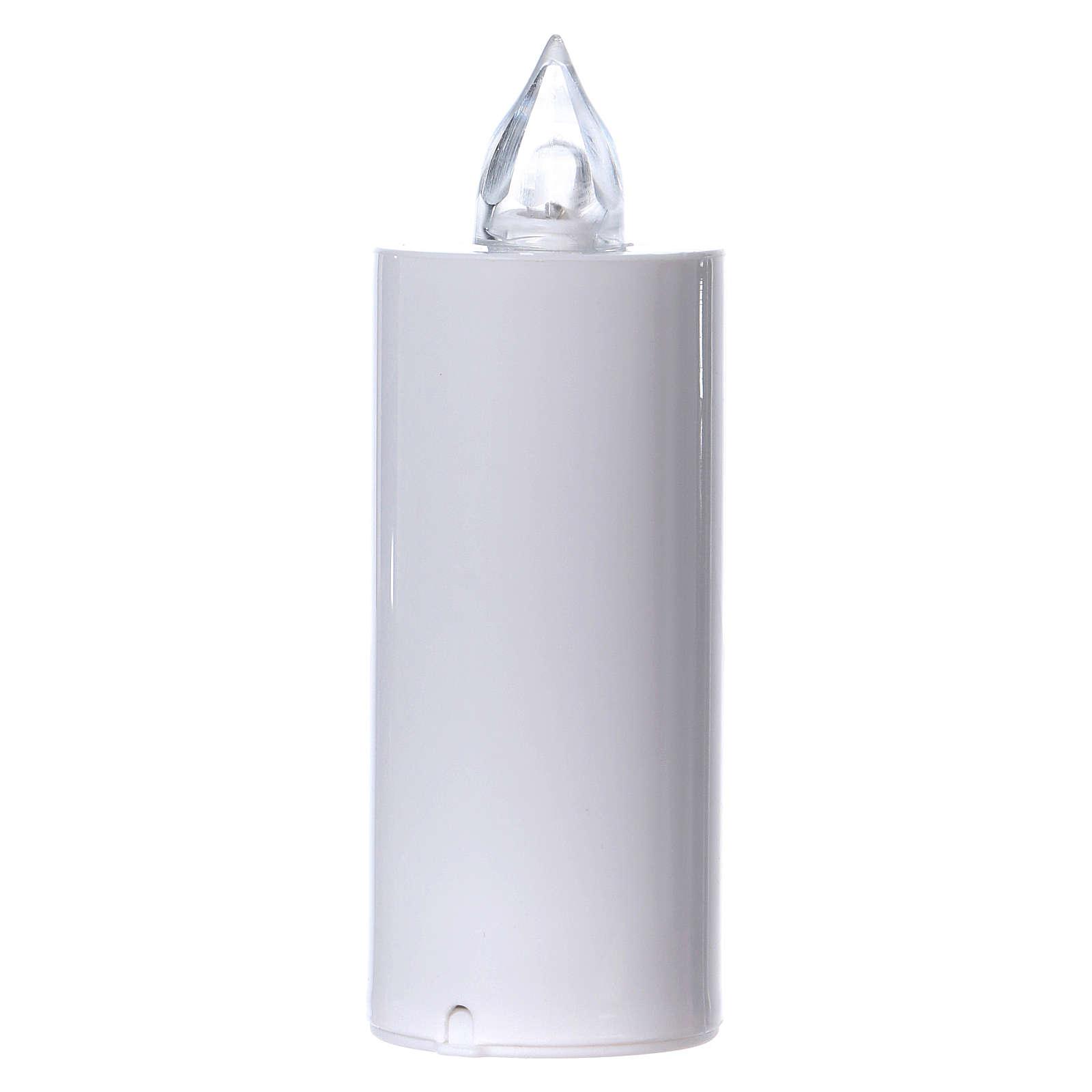 Vela votiva Lumada desechable blanca luz parpadeante blanca 3