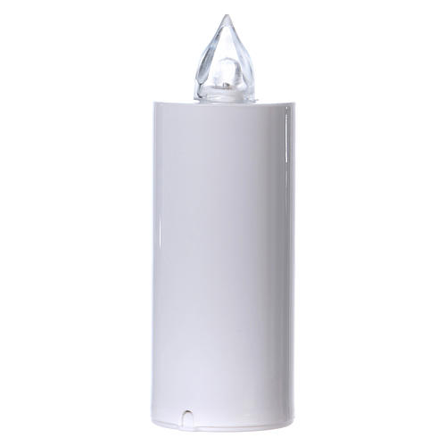 Vela votiva Lumada desechable blanca luz parpadeante blanca 1