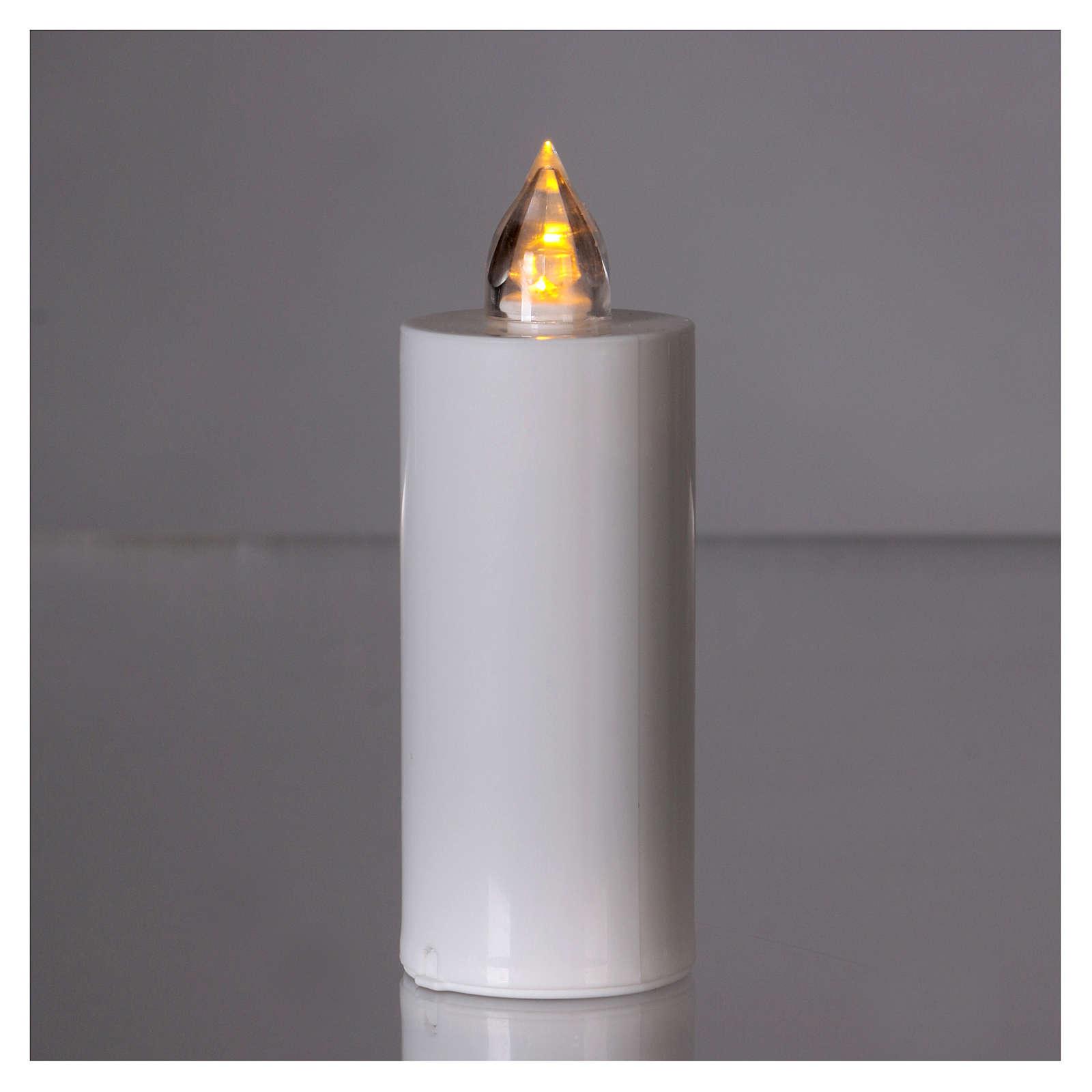 Candela votiva Lumada usa e getta luce gialla fiamma reale 3