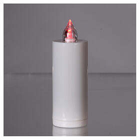 Vela votiva Lumada blanca luz parpadeante roja