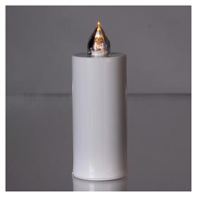 Vela votiva Lumada blanca con luz amarilla fija