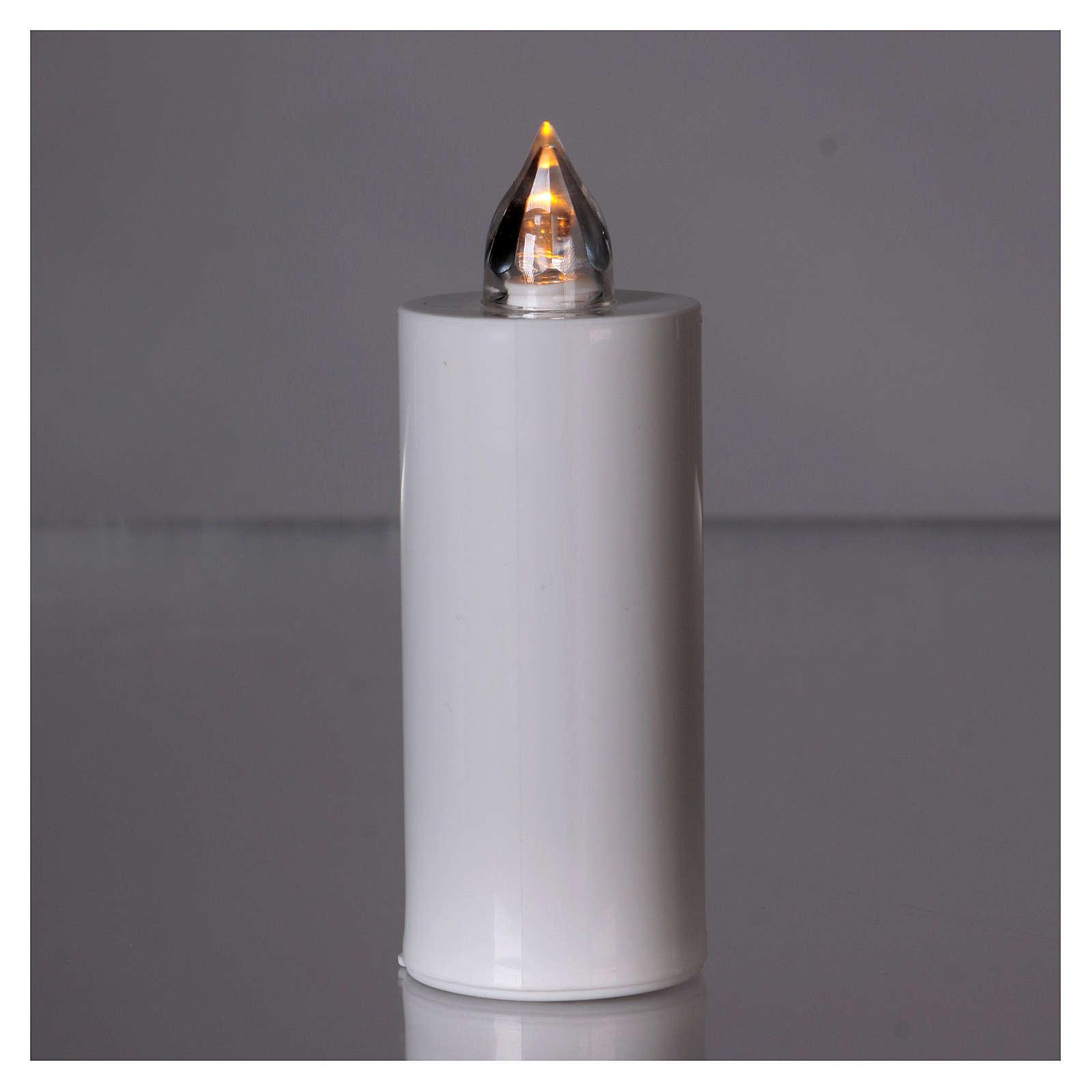 Świeczka wotywna znicz Lumada biała ze światłem żółtym stałym 3
