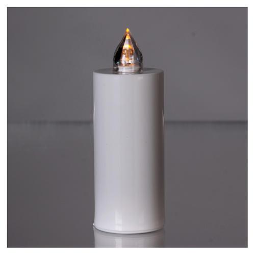 Świeczka wotywna znicz Lumada biała ze światłem żółtym stałym 2