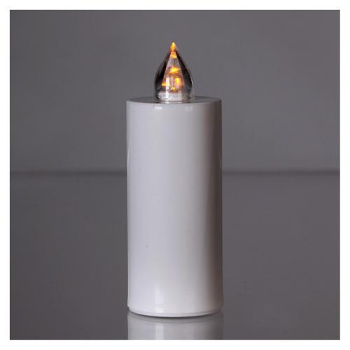 Vela votiva Lumada blanca luz parpadeante amarilla 2