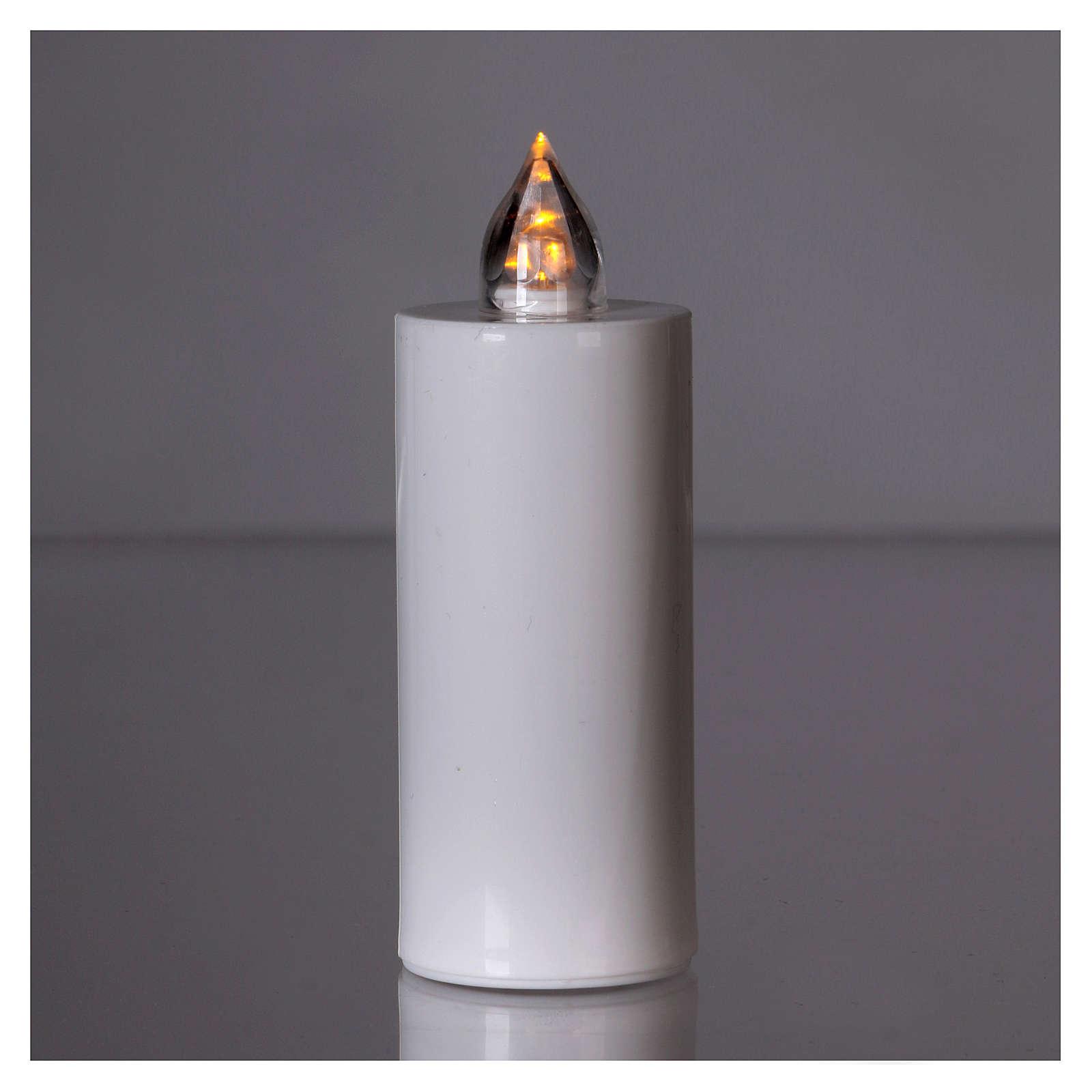 Candela votiva Lumada bianca luce intermittente gialla 3
