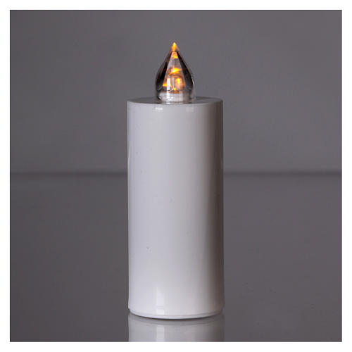 Candela votiva Lumada bianca luce intermittente gialla 2