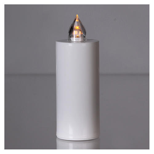 Veilleuse Lumada à usage unique blanche lumière jaune clignotante 2