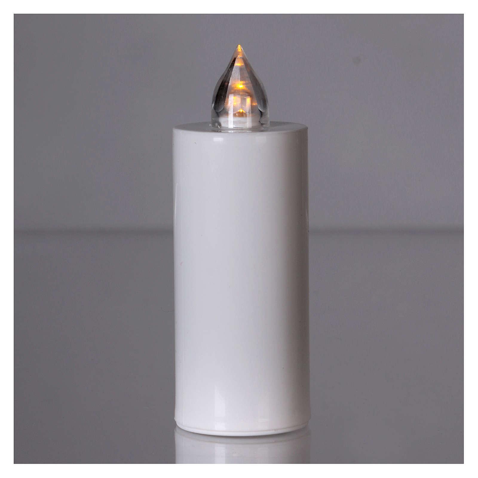 Znicz Lumada jednorazowy biały światło żółte migające 3