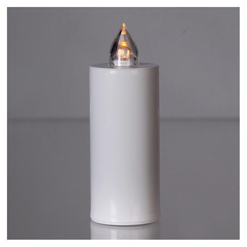 Znicz Lumada jednorazowy biały światło żółte migające 2