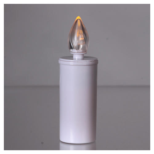 Lumada votive candle with yellow flickering light, disposable 2