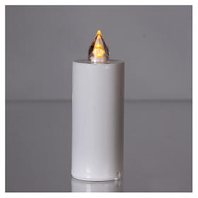 Lumada electric candle with yellow light and white body s2