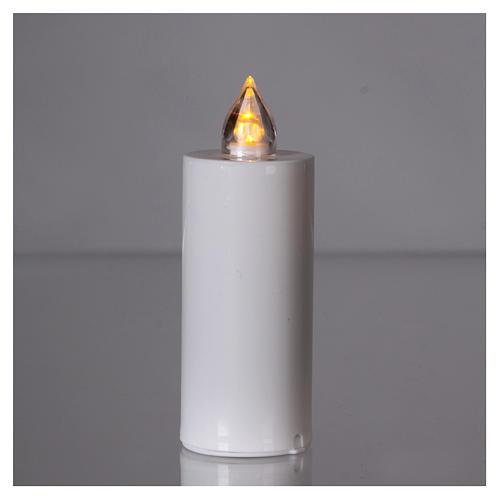 Vela Lumada blanca con luz amarilla llama real 2