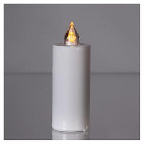 Candela Lumada bianca con luce gialla fiamma reale s2