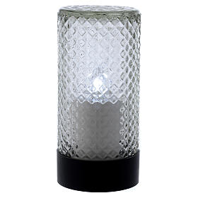 Lumada electric candle in glass with white flickering light s1