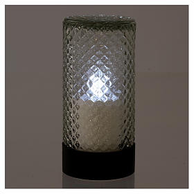Lumada electric candle in glass with white flickering light s2