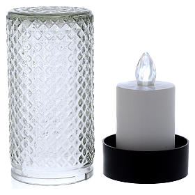 Lumada electric candle in glass with white flickering light s3