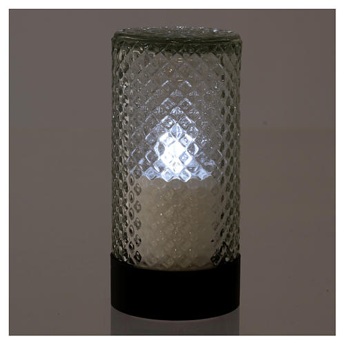 Lumada electric candle in glass with white flickering light 2
