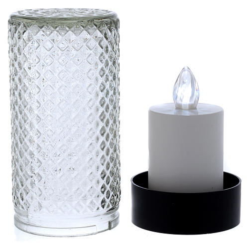 Lumada electric candle in glass with white flickering light 3