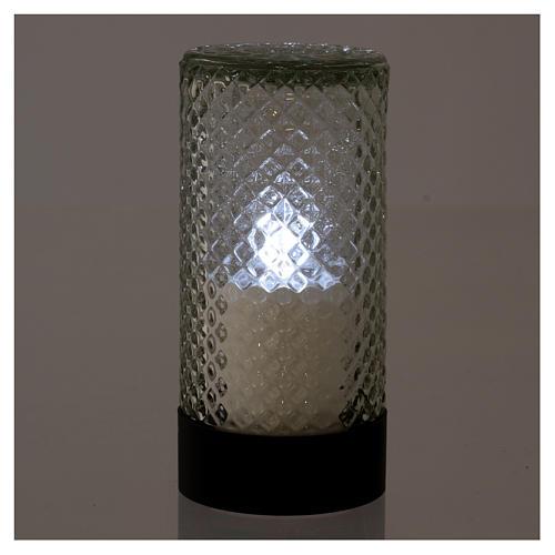 Vela votiva electrónica Lumada gris efecto llama 2