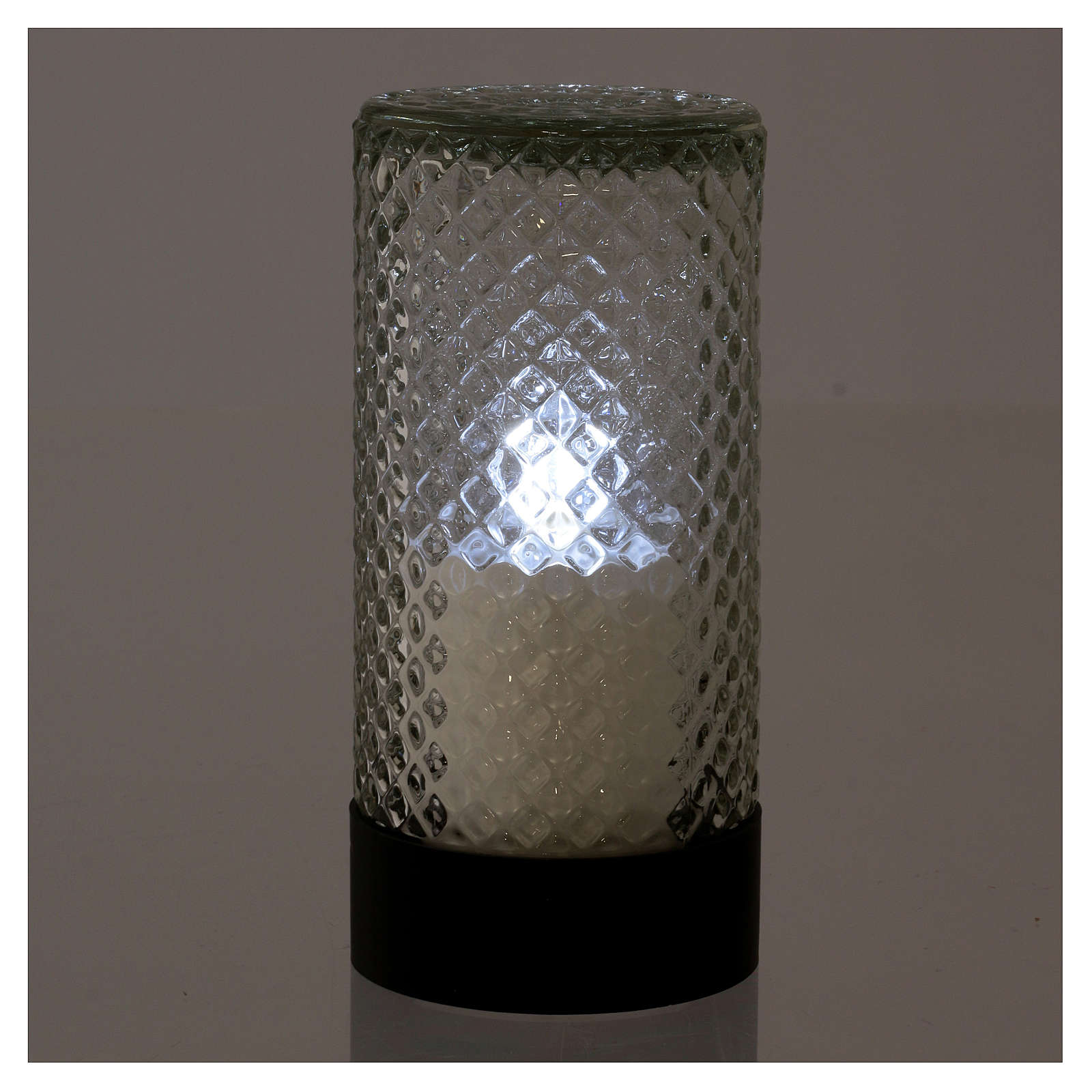 Świeczka elektroniczna czarna Lumada światło białe efekt płomienia 3