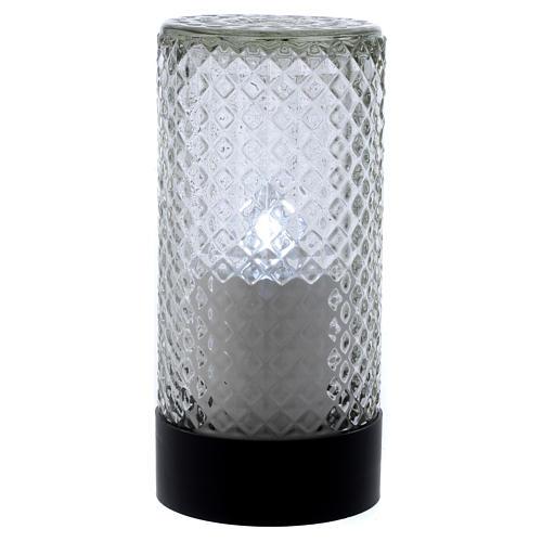 Świeczka elektroniczna czarna Lumada światło białe efekt płomienia 1
