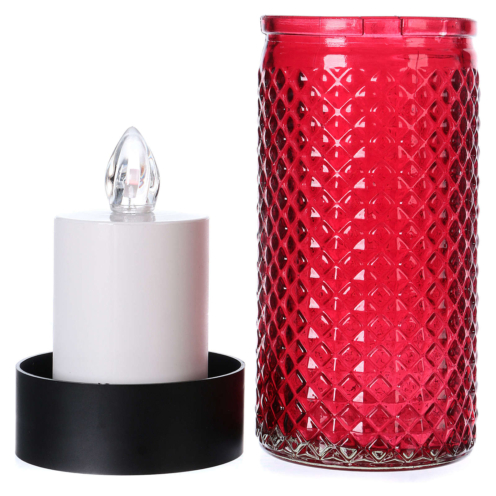 Lumada candle in glass with red flickering light 3