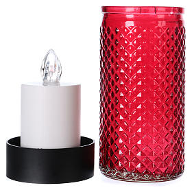 Lumada candle in glass with red flickering light s3