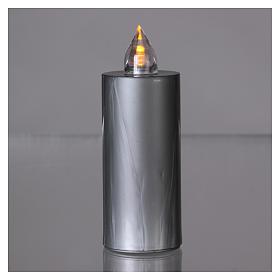 Candela votiva Lumada argento luce gialla fissa s2