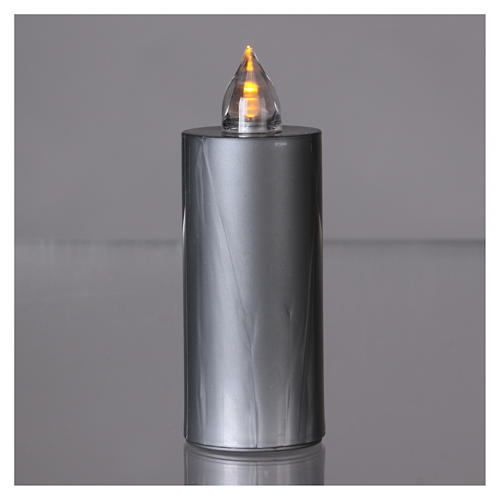 Candela votiva Lumada argento luce gialla fissa 2