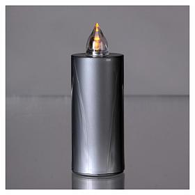 Candela votiva Lumada luce gialla fissa usa e getta argento  s2