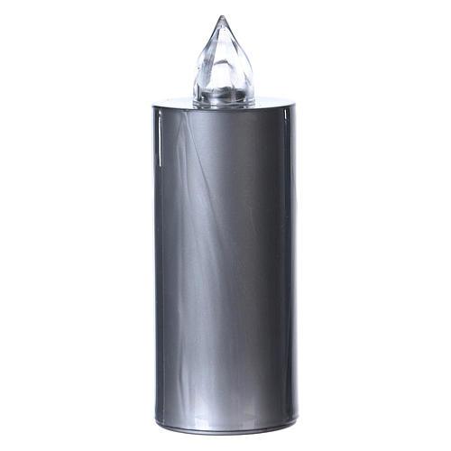 Candela votiva Lumada luce gialla fissa usa e getta argento  1