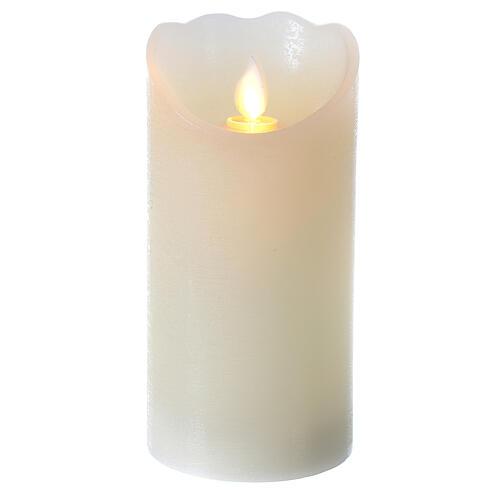 Candela cera led fiamma effetto movimento h 15 cm 1