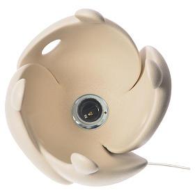Lámpara de mesa en gres H 28 cm. marfil s3