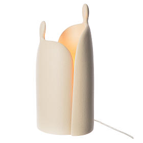 Lamp, embrace in porcelain stoneware gres, 36cm s1