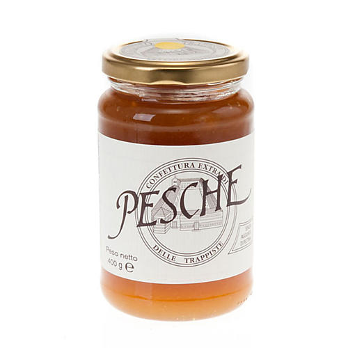 Peaches jam extra 400 gr - Vitorchiano Trappists 1