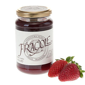 Jams and Marmalades: Strawberry jam extra 400 gr -Vitorchiano Trappists