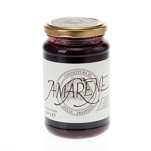 Sour cherry jam 400 gr Vitorchiano Trappists 1