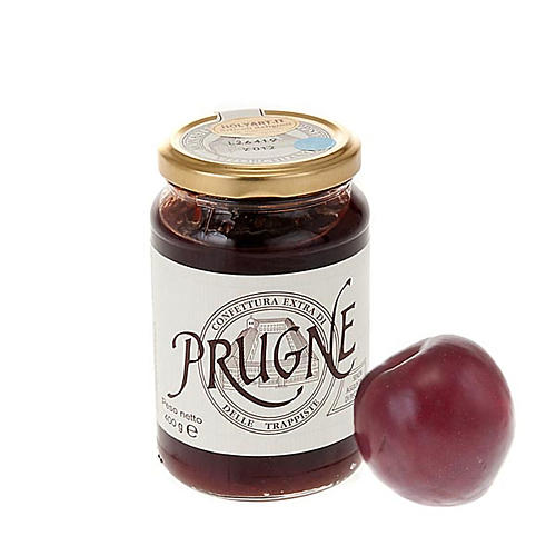 Plum compote 400 gr of the Vitorchiano Trappist nuns 1