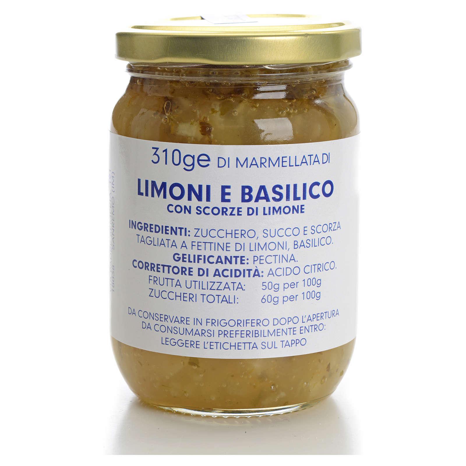 Marmellata limoni e basilico 310 gr Monastero Carmelitane 3