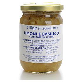Marmellata limoni e basilico 310 gr Monastero Carmelitane s1