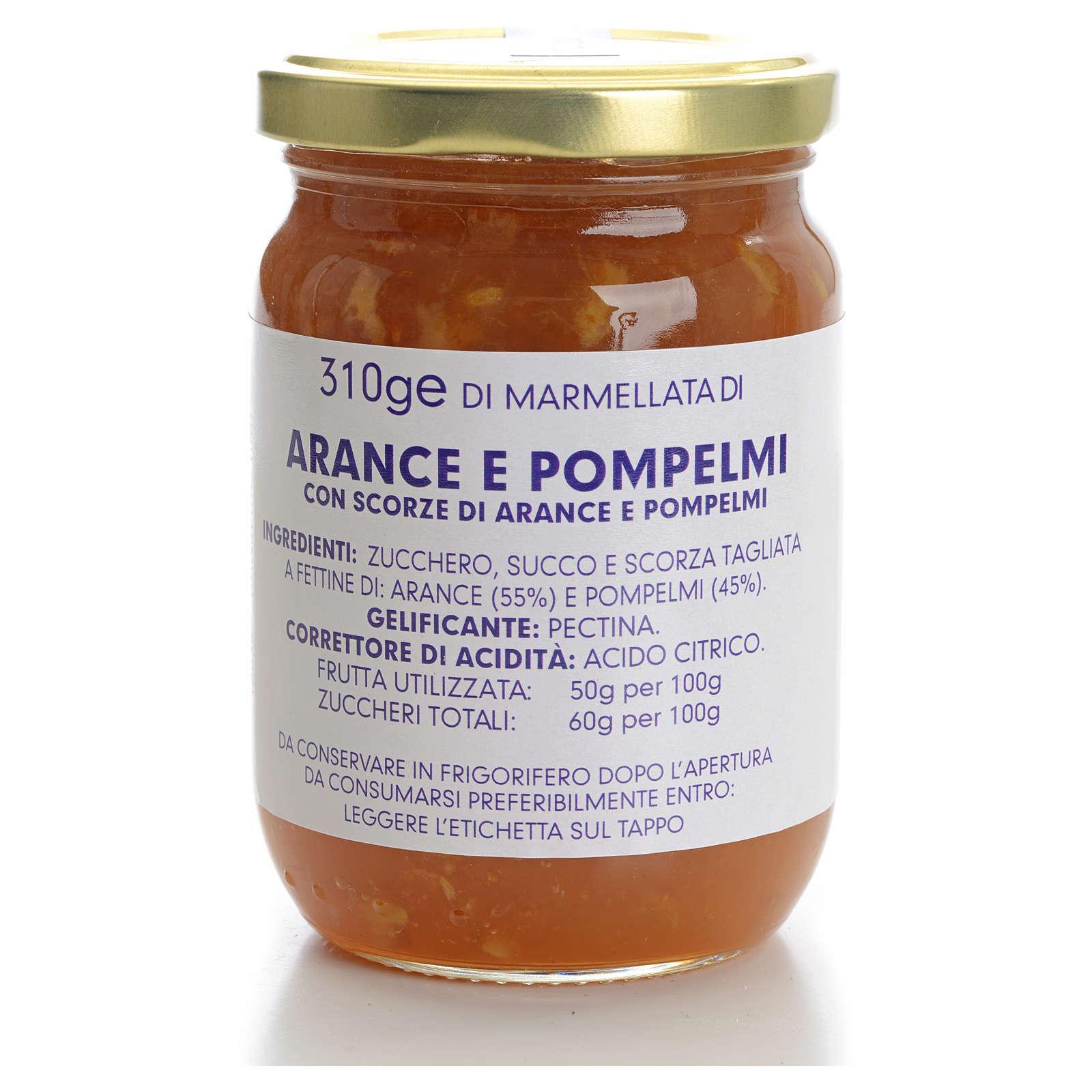 Confiture orange et pamplemousse 310 g Carmélites 3