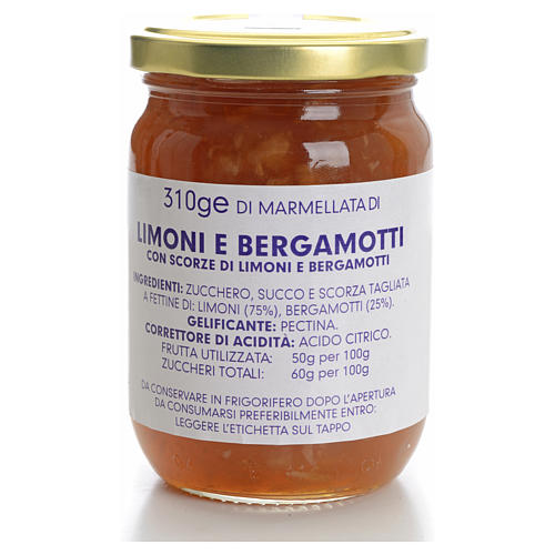 Confiture de citron et bergamote 310 g Carmélites 1